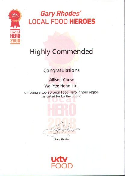 Local Food Heroes 2008 - Highly Commended