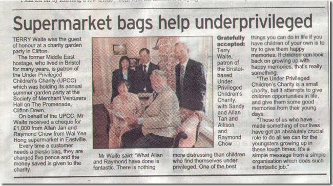 Supermarket Bags Help Underprivileged
