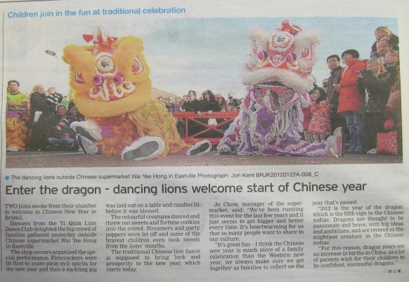 Evening Post - Chinese New Year 2012