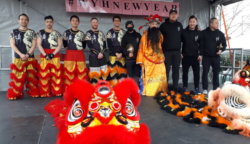 Chinese New Year - Lion Dance Performers